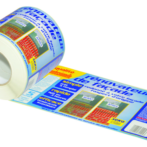 Etiquettes adhesives en rouleaux