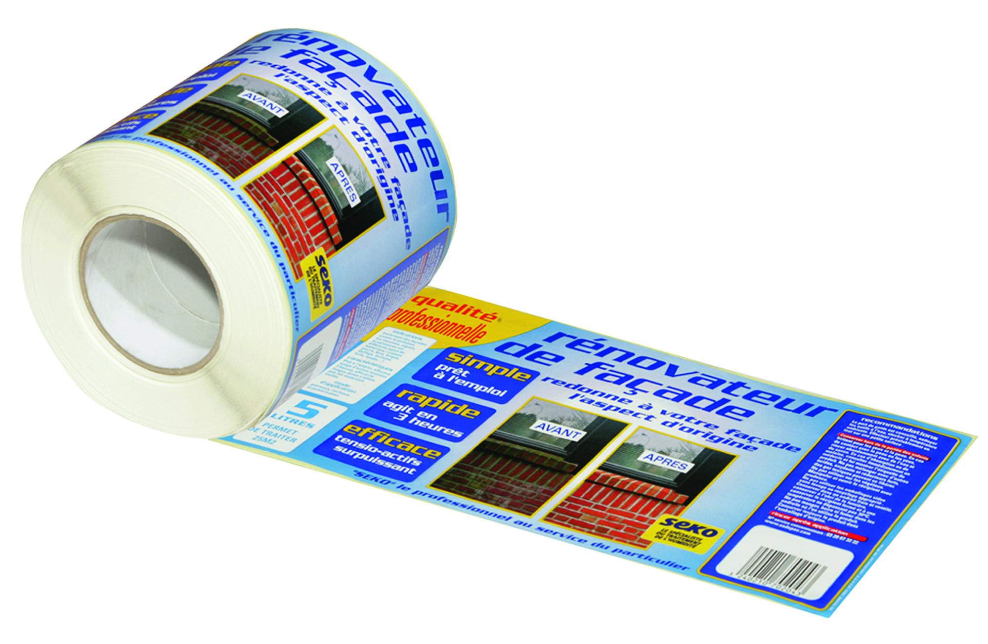 Etiquettes adhesives en rouleaux
