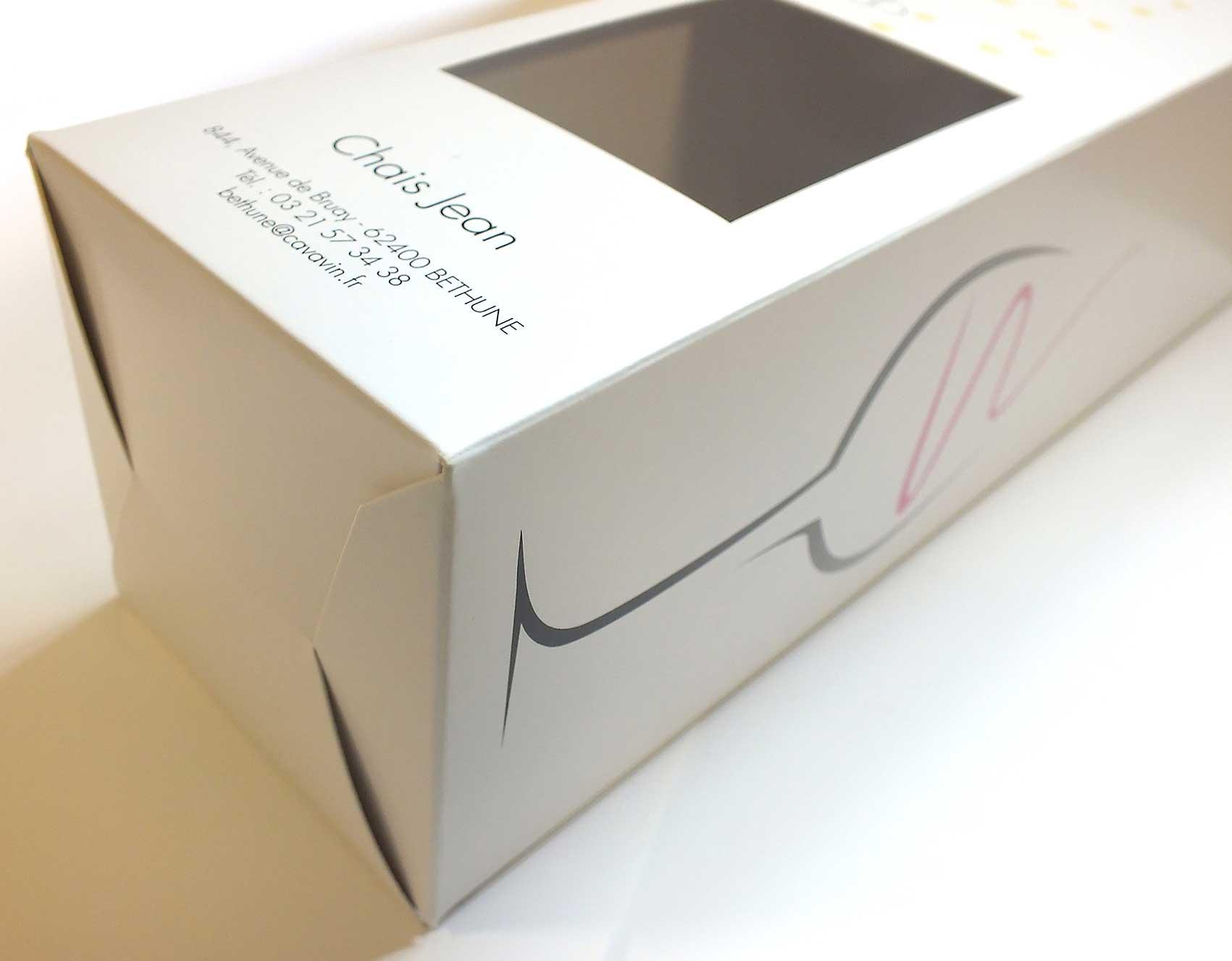 Emballage carton pour bouteille de Vin