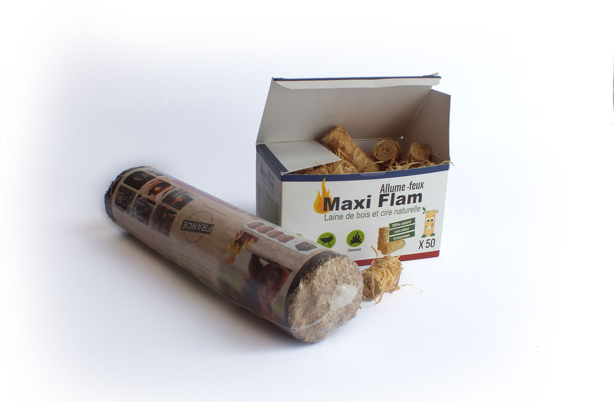 emballage allume feu Maxi Flamme